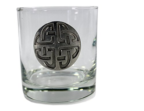 Whiskey Glasses with Pewter Celtic Symbols 4 Set by Robert Emmet Co. (Image #4)