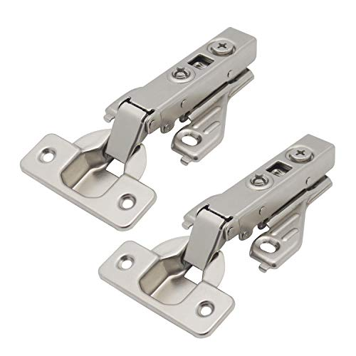 Probrico Full Overlay Soft Closting Clip On Face Frame Mounting Cabinet Hinges,1 Pair