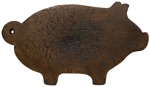CWI Gifts Treenware Pig Cutting Board (Wood Board Pig Cutting)