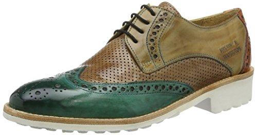 Melvin & HamiltonAmelie 3 - Zapatos Planos con Cordones Mujer Mehrfarbig (Crust/Perfo/Crust Sweet WATER/Powder/Verde Chiaro/Arrancio Rook D White)