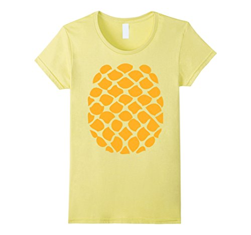 Cheap Easy Womens Halloween Costumes (Womens Pineapple Costume T-Shirt - Easy Cheap Halloween Costume Large Lemon)