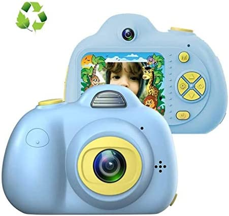 4-9歳のクリスマスプレゼント男の子女の子2.0インチのLCDに適した子供のカメラ、デュアル自分撮りデジタルカメラHDビデオレコーダーアクションカメラビデオカメラ