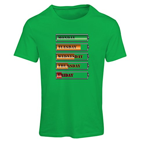 T shirts for women Weekly power workout schedule - Funny Gym motivation  quotes (Small Green