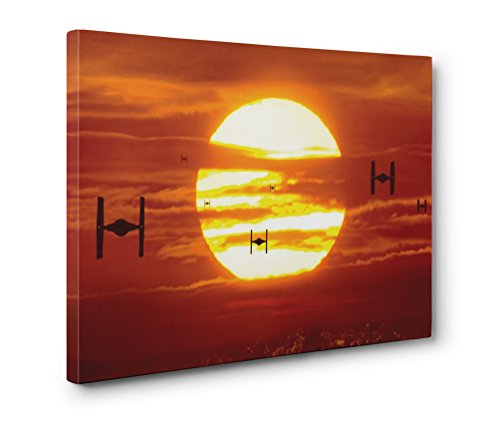 (OneCanvas STAR WARS TIE FIGHTERS WALL ART GALLERY WRAPPED CANVAS PRINT (12x18in. Small))