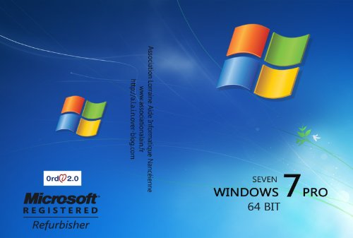 Microsoft Windows 7 Professional 64 Bit MAR Refurbished inkl. Service Pack 1 Deutsch