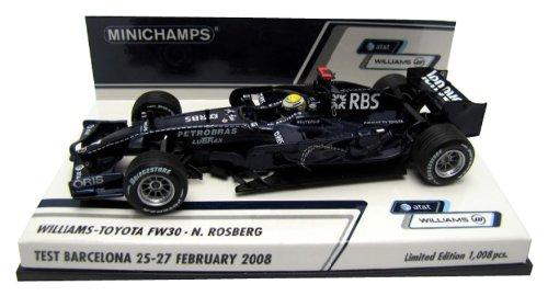 Minichamps – 400080307 – Fahrzeug Miniatur – williams-toyota FW 30 – Rosberg Test Barcelona 25 – 27 Februar 08 – Maßstab 1/43