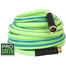 All NEW 2018 Rubber Garden Hose by Pro Green | 5/8 in. x 50 ft, Heavy Duty, Strong Rubber, Flexible & Lightweight | Water Hose Commercial Worthy | Full Customer Warranty