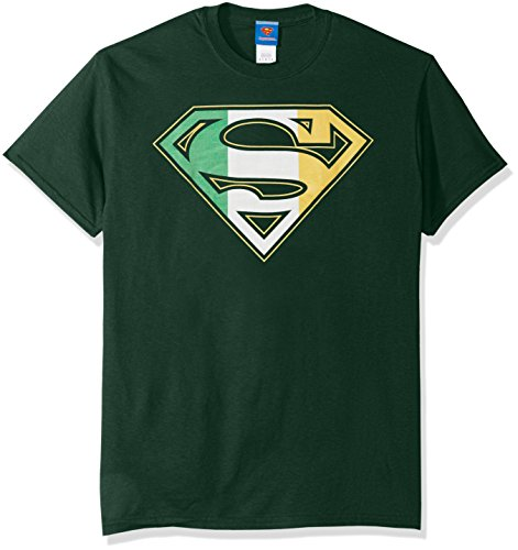 DC Comics Men's Superman Irish Shield T-Shirt