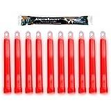 "Cyalume ChemLight Military Grade Chemical Light Sticks, Red, 6"" Long, 12 Hour Duration (Pack of 10)"
