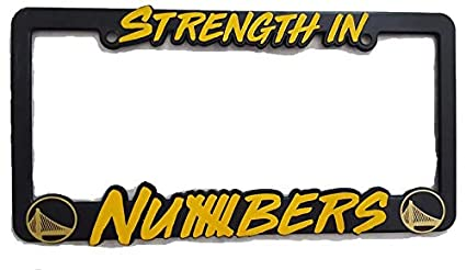 9742bb8fcc6027 Image Unavailable. Image not available for. Color: Golden State Warriors  Strength in Numbers License Plate ...