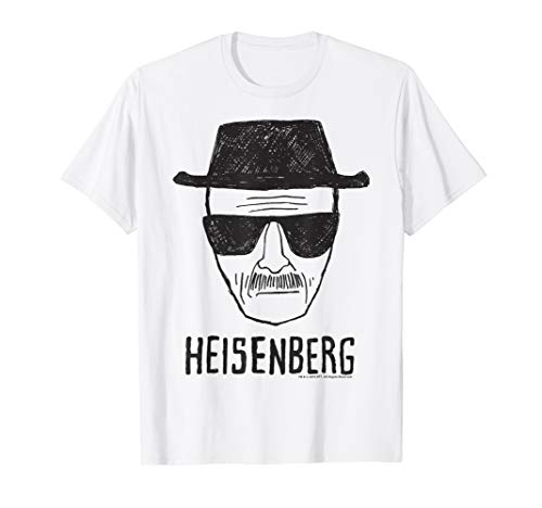 Breaking Bad Heisenberg Head Shot Sketch T-Shirt (Breaking Bad Women Tshirt)