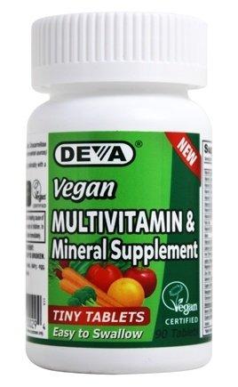 Deva Vegan Multivitamin, Mineral Supplement, Coated Tablets, 90 Count Bottle