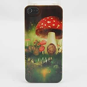 Beautiful Mushroom House Pattern PC Back Case for iPhone 5
