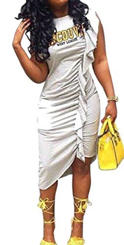 Ruched Dresses Stretch Women Clubwear Bodycon Grey Mini Sheath Dress Jaycargogo ZUqxPwCZ