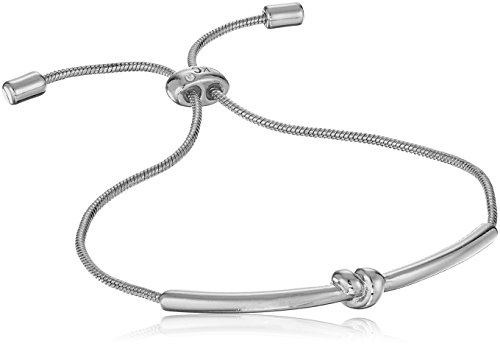 Kenneth Cole Ladies Bracelet - Kenneth Cole New York Womens Silver Knot Bar Bracelet, Rhodium, One Size