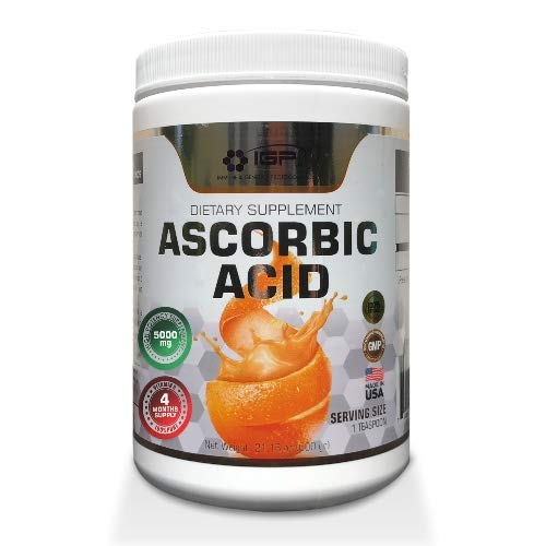 Vitamin C (Ascorbic Acid) 5000mg 4 Months Supply (21.16 OZ / 600 GRS.) 120 Servings.