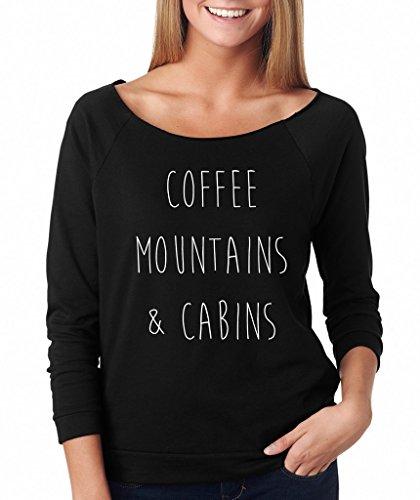 - SignatureTshirts Women's Raglan Tee Coffee Mountains & Cabins Cute Shirt