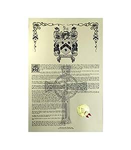 dufaur escudo de armas, Escudo del familia y nombre historia–Celebración Scroll 11x 17vertical–Francia origen
