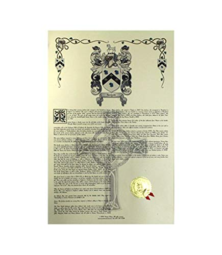 Dove Coat of Arms, Family Crest and Name History - Celebration Scroll 11x17 Portrait - England Origin