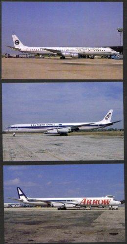 Translift Southern World Arrow Douglas DC-8 postcard gp