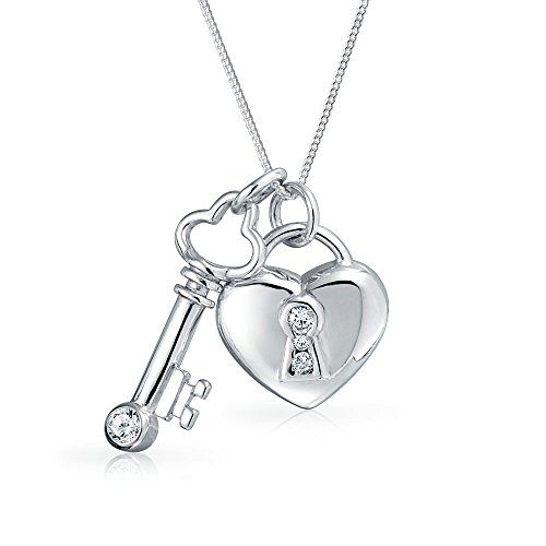 Pave Heart Lock - 4