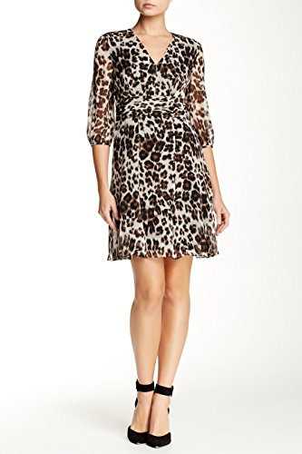 (Diane von Furstenberg Snow Cheetah Printed Silk A-Line Women's Dress (2))