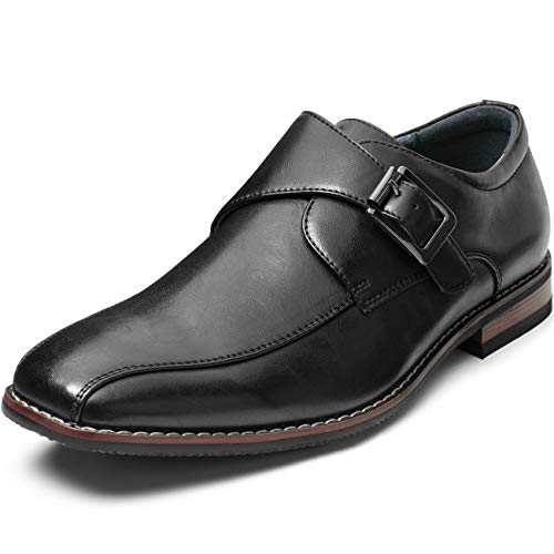 ZRIANG Men's Dress Loafers Formal Leather Lined Slip-on Shoes (8.5 M US, Black-17) (Black Leather Slip On Shoes For Men)