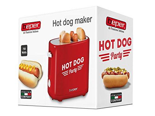 BEPER 90.488 Appareil /à Hot Dog 750 W Rouge