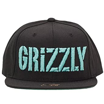 Grizzly Griptape Puff Bear Starter Snapback Cap Black Blue Diamond Supply  Co  Amazon.co.uk  Clothing 4ede6a849b7