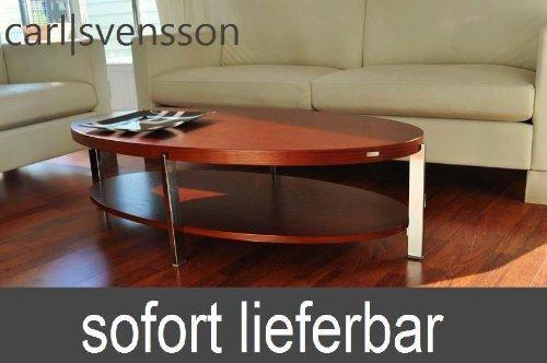 Amazonde Carl Svensson Design Couchtisch O 111 Kirschbaum Oval Tisch