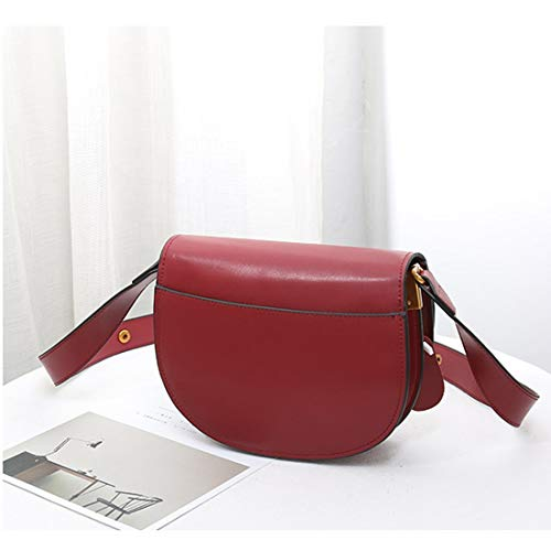 color Mano Nero Borsa In Fibbia Diagonale Con Spalla A Disponibile Vie Pelle caffè Ploekgda Tracolla Brown Red Rosso 2 H4wCqnCa6