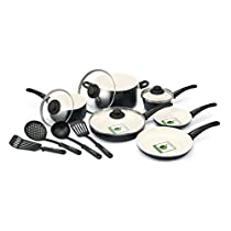 GreenLife Ceramic Non-Stick 14-Piece Soft Grip Cookware Set (Charcoal)