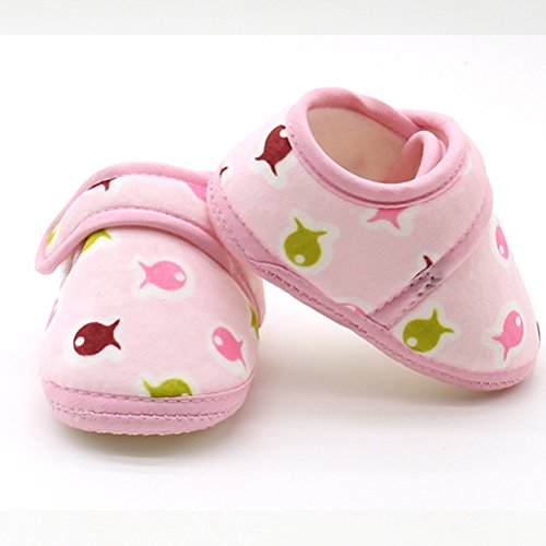 Zhhlinyuan Bebé Girls Soft Bottom Lovely Toddler shoes Comfortable Cotton Shoes Pink