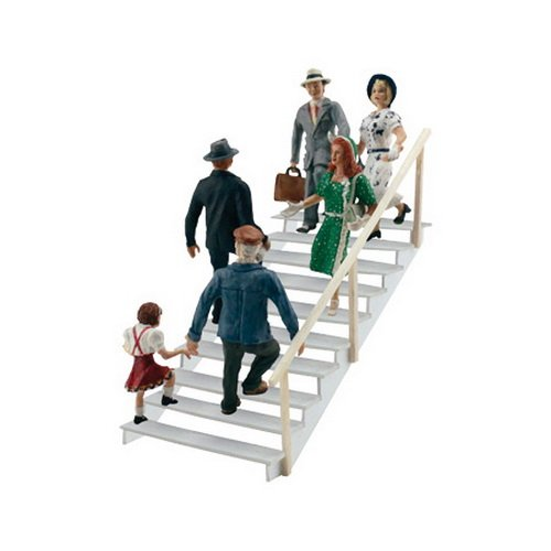 (Woodland Scenics HO Scale Scenic Accents Figures/People Set Taking Stairs (6))
