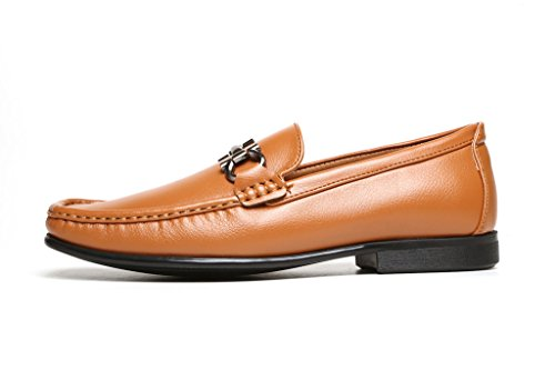 Hombre Casual Mocasines Inteligentes Vestido Deslizarse Conducción Zapatos De Diseño con Tacón Mocasin Estilo Nuevo Tallas Tostado
