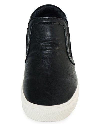 Mnx15 Hommes Ascenseur Chaussures Hauteur Augmenter 2,4 Olive Noir Noir