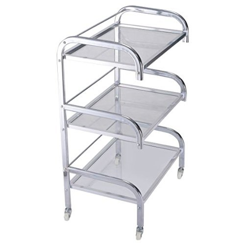 PROSPERLY U.S.Product Rolling Trolley Cart 3 Tiers Hair Beauty Salon Spa Storage Equipment - In Shopping Lauderdale Fort