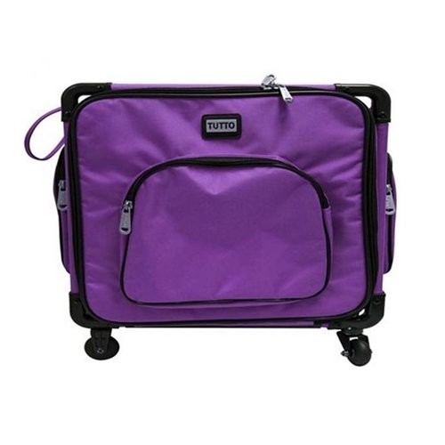 "Tutto 20"" Purple Serger Tote On Wheels"