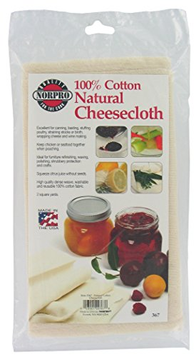 Norpro Natural Cheese Cloth, 2 Sqare Yards