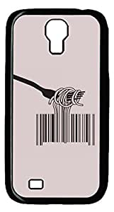 Brian114 Samsung Galaxy S4 Case, S4 Case - Cool Black Back Hard Case for Samsung Galaxy S4 I9500 Barcode Spaghetti Design Hard Snap-On Cover for Samsung Galaxy S4 I9500