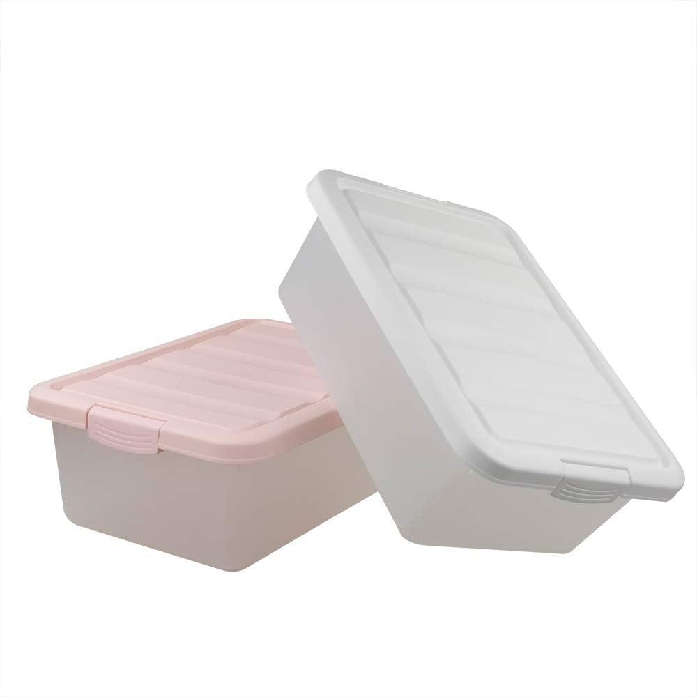Ikando Caja Cajas de Almacenamiento Plastico Grande con Tapa ...