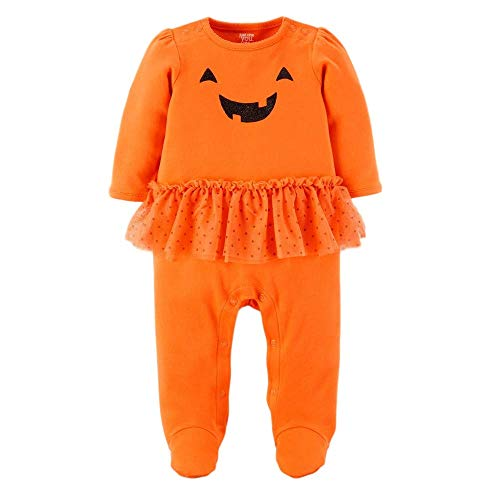 Carter's Just One You Baby Girls' Halloween Pumpkin Tutu Sleep N' Play- Orange (3 Months)]()