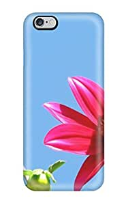 linJUN FENGSlim Fit Tpu Protector Shock Absorbent Bumper Dahlia Flower Case For Iphone 6 Plus