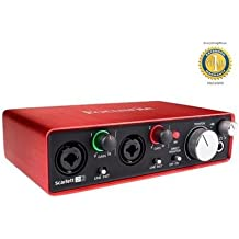 Focusrite Scarlett 2i2 Second Generation (2nd Gen) 2-in, 2-out USB Audio Interface