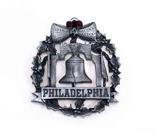 Philadelphia Liberty Bell Pewter Ornament ()