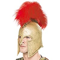 Casco Romano Smiffys para Hombre, Dorado, Látex, Talla Única, 28425