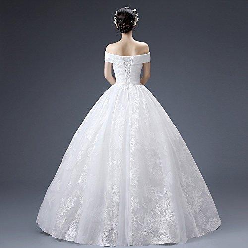 Abito bianca Stomacher m Size Plus Sposa Homee Monospalla Matrimonio Da w8qXA8ZTx