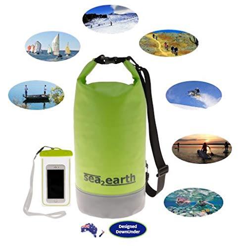 Waterproof Dry Bag 20L - Floating Dry Sack. Waterproof storage bags keep your gear dry Camping, Kayaking, Swimming, Fishing, Hiking, Boat, Beach, Paddle Board, Sup. With luminous waterproof phone case