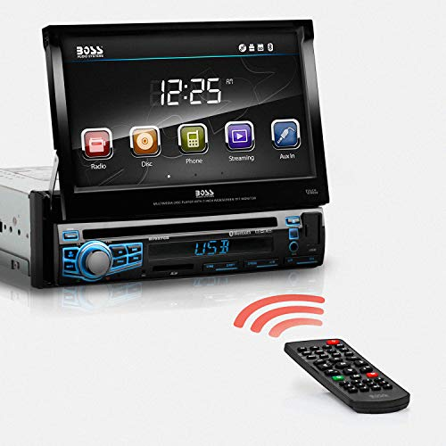 Boss Audio Systems BV9976B Car DVD Player - Single Din, Bluetooth Audio Calling, Built-in Microphone, CD MP3 USB SD Aux-in, AM FM Radio Receiver, 7 Inch Digital LCD Display, Multi-color Illumination