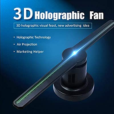 3D Hologram Projectors Advertising Display LED Fan with WiFi, FOV 176° 720P Hi-Resolution LED Fan Holographic 3D Photos and Videos for Store, Shop Mall, Bar, Casino,Airport,Exhibition, Party Display